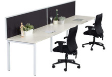 Rapid Infinity Single Sided Workstation with Screen - Profile Leg