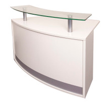 Rapidline Modular Reception Desk Counter - Glass Top
