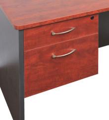 Rapid Manager 2 Drawer Fixed Pedestal - 1 Desk Drawer and 1 Filing Drawer