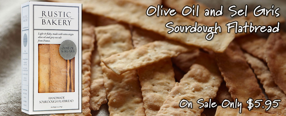 Olive Oil and Sel Gris Sourdough Flatbread