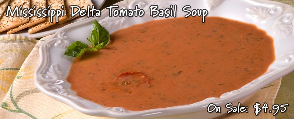 Mississippi Delta Tomato Basil Soup