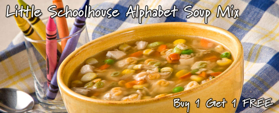 Little Schoolhouse Alphabet Soup Mix