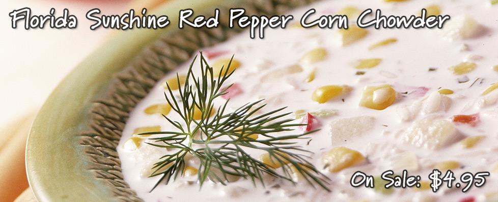 Florida Sunshine Red Pepper Corn Chowder