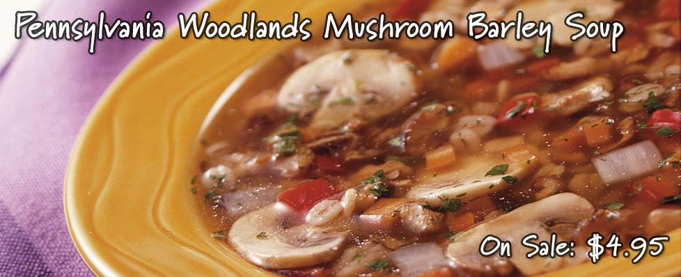 Pennsylvania Woodlands Mushroom Barley Soup