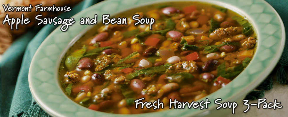 Vermont Farmhouse Apple Sausage and Bean Soup