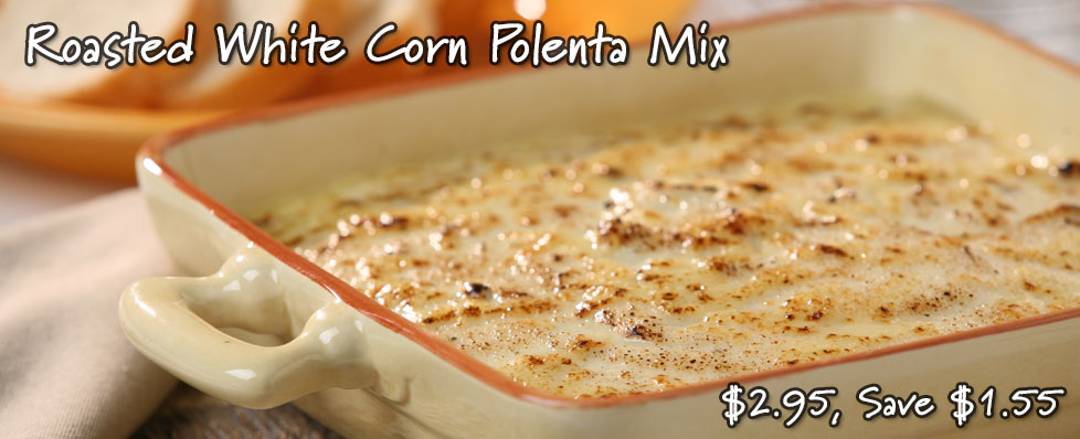 Roasted White Corn Polenta Mix