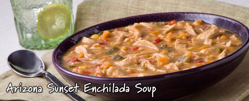 Arizona Sunset Enchilada Soup