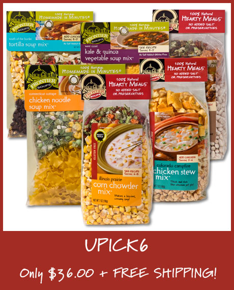 Pick 6 Soups for $36.00 and Get Free Shipping!