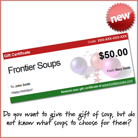 New Frontier Soups Gift Certificates