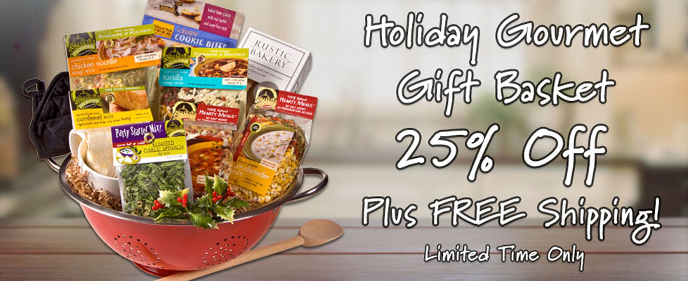 Holiday Gourmet Gift Basket with Free Shipping
