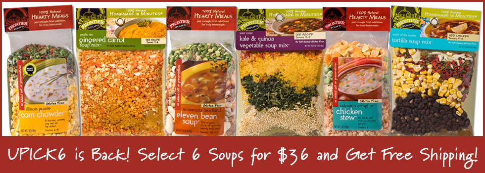 Choose Any 6 Soups and Get FREE Shipping!