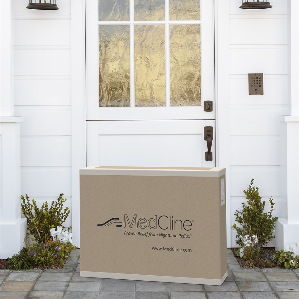 MedCline is delivered to your doorstep, so you can take back your nights from acid reflux symptoms that leave you restless.