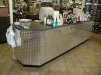 Diamond Plate Sheets - these thin, silver diamond plate sheets are easy to install, cut and hang, and look great in your business, home, man cave or for any special project!