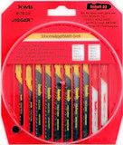 10 Piece HCS Jigsaw Blade Set, One-Lug Shank