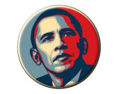 "Obama  ""Obey""  Button"