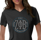 ZPB Rhinestone Circle   Short Sleeves  Tee