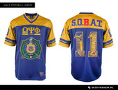 NEW  OMEGA  PSI  PHI   FOOTBALL JERSEY + FREE SHIPPING