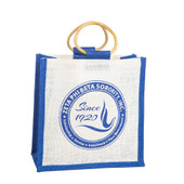 Bag:   Zeta Phi Beta  Mini Jute Bag w/ Shield