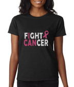 FIGHT CANCER  Glitter  Tee