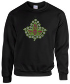 AA -  AKA  Ivy Leaf  Design Rhinestone Sweat Shirt