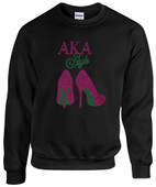 AA -  AKA High Heel Rhinestone Sweat Shirt