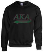 AA -  AKA Sorority  Rhinestone Sweat Shirt