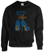 SWEATSHIRT:    SGRHO  Heel   Rhinestone Sweat  Shirt