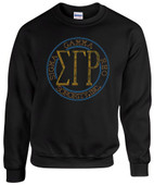 SWEATSHIRT:    SGRHO  Circle  Rhinestone Sweat  Shirt