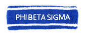 HEADBAND:  Phi Beta Sigma  Terry  Headbands