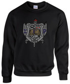 SWEATSHIRT:    SGRHO  Crest  Rhinestone Sweatshirt