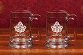 Glass Mugs- A set of 2  (15 oz )  Colonial Tankards