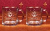 Glass Mugs- A set of 2 ( 13 oz )  Clear Glass Mugs