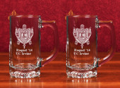 Glass Mugs- A set of 2  (13 oz ) Star Bottom Sports Mug