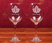 Stemware- A set of 2 (19 oz.)  Wine Glasses
