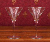 Titanium Stemware Line- A set of 2  ( 10 oz ) Titanium Martini Glasses