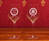 Titanium Stemware Line- A set of 2 Titanium Wine Glass (12 oz )