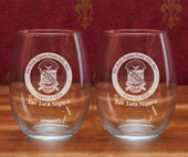 Boxed Sets- A set of  2 ( 21 oz ) . Stemless Wine Glasses