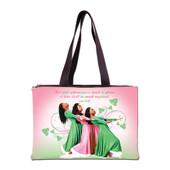 HANDBAG - THREE LADIES PINK AND GREEN