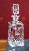 Decanters- 38oz Hand-Cut Crystal Square Decanter