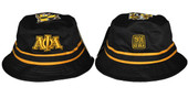 Alpha Phi Alpha Black  Bucket Hat