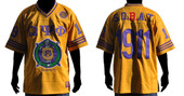 Omega Psi Phi Football  gold Jersey