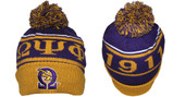 Head Gear -  Omega Psi Phi Gold Rib  Beanie