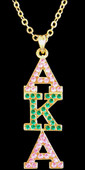 Jewelry:  Crystal AKA Letter Pendant on Necklace (Gold)