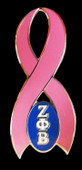 Zeta Phi Beta   Breast Cancer  Awareness Pin