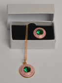 Jewel:  AKA  Signet Necklace & Lapel Pin Set