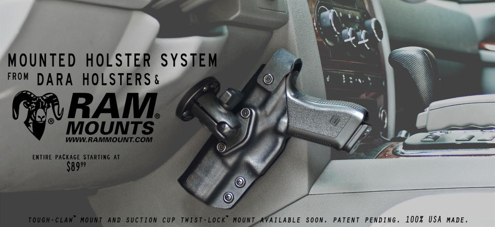 Easy Access Handgun Holster Mounted In Vehicle Page 1