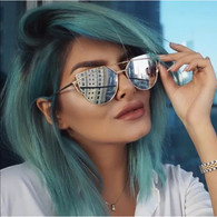 'Miami' silver mirrored sunglasses