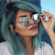 'Miami' silver mirrored sunglasses