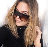 'Strike' Square top black & leopard Celine dupe shades