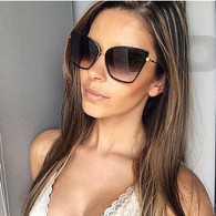 New 'Bronx' Retro cat eye shaped sunglasses - BLACK